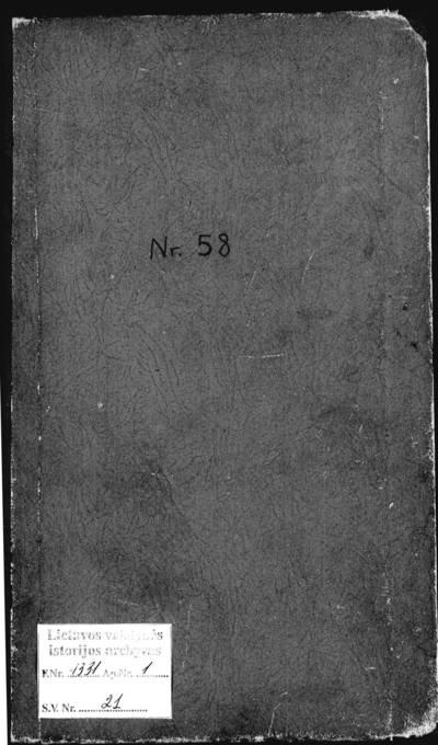 Vidiškių RKB 1909--1921 m. santuokos metrikų knyga (1915--1921 m. juodraštis). 1909--1921 m.