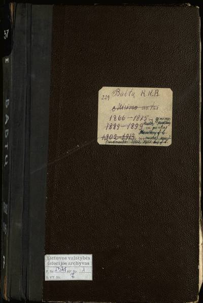 Babtų RKB ir Muniškių filijinės bažnyčios gimimo metrikų knyga. 1866--1875 m.
