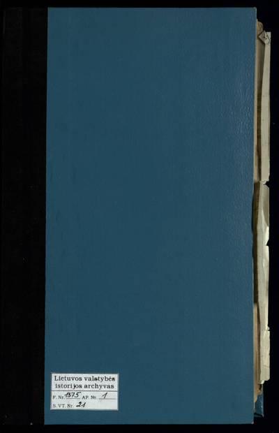 Raguvos RKB 1919--1926 m. santuokos metrikų bei 1922--1927 m. priešsantuokinės apklausos knyga. 1919--1927 m.