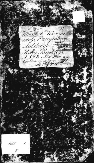 Liolių RKB 1828--1834 m. mirties metrikų, 1839--1844 m., 1865--1867 m. siunčiamųjų ir gaunamųjų raštų registracijos knyga. 1828--1867 m.