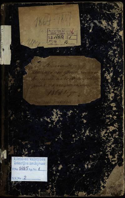 Upynos RKB gimimo metrikų knyga (Yra atstatyti gimimo metrikai K. Leistrumo -- 1856 m. ir J. Pašakarnio -- 1871 m.). 1864--1869 m.