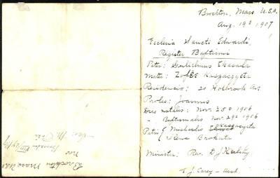 Perlojos RKB 1902--1909 m. gimimo ir santuokos metrikai ir metrikų išrašai sudaryti JAV Romos katalikų bažnyčiose. 1907--1910 m.