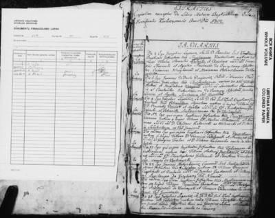 Karkažiškės RKB gimimo, santuokos ir mirties metrikų nuorašų knyga. 1802--1818 m.
