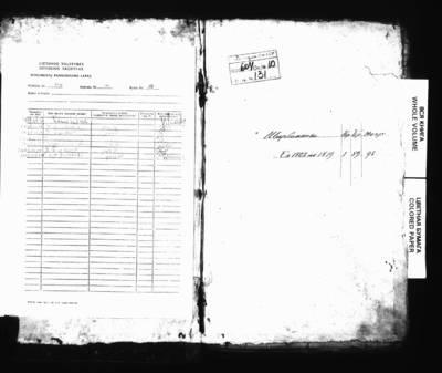Širvintų RKB gimimo, santuokos ir mirties metrikų ir Siegnievičių RKB ( Pružanų dekanato) 1802 m. santuokos metrikų nuorašų knyga. 1802--1818 m.