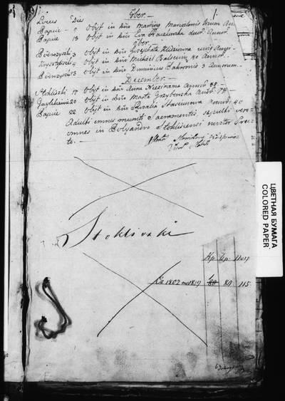 Stakliškių RKB gimimo, santuokos ir mirties metrikų nuorašų knyga. 1802--1818 m.