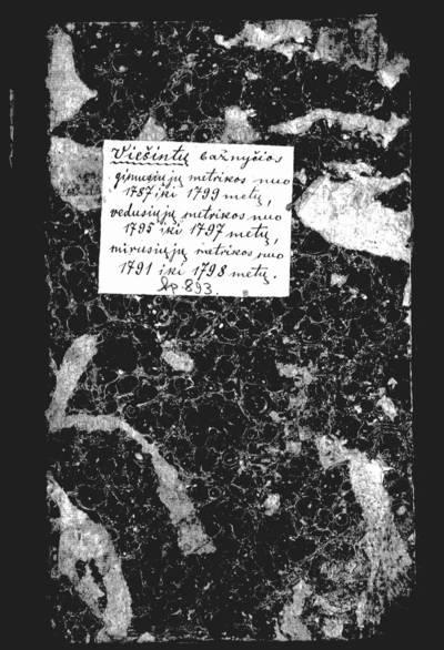 Viešintų RKB gimimo, santuokos ir mirties metrikų knyga. 1787--1799 m.