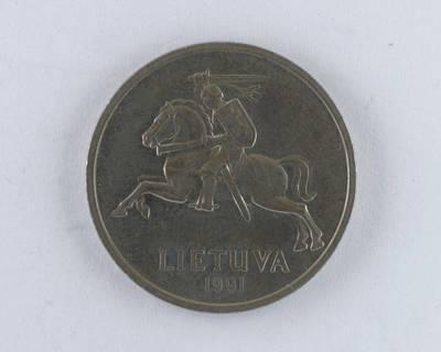 Petras Henrikas Garška. Moneta. 5 litai 1991 m. Lietuva
