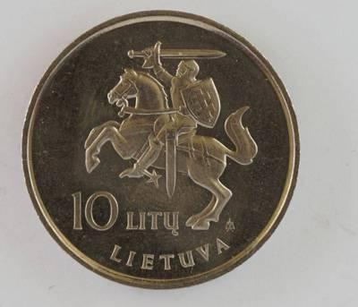 Petras Henrikas Garška. 10 litų jubiliejinė moneta skirta Dariaus ir Girėno skrydžio per Atlantą 60-osioms metinėms