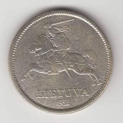 Juozas Zikaras. Moneta.10 litų, 1936 m., Lietuva.