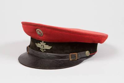 Uniforminė geležinkelių stoties budėtojo kepurė. 1937-05-26