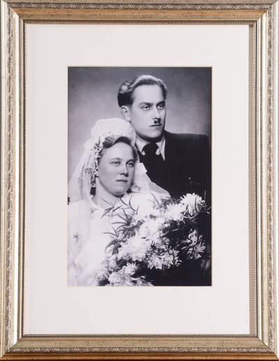 Alfonsas ir Anelė Laurinėnai  iš Mažėnų k., N. Daugėliškio sen. - 1950