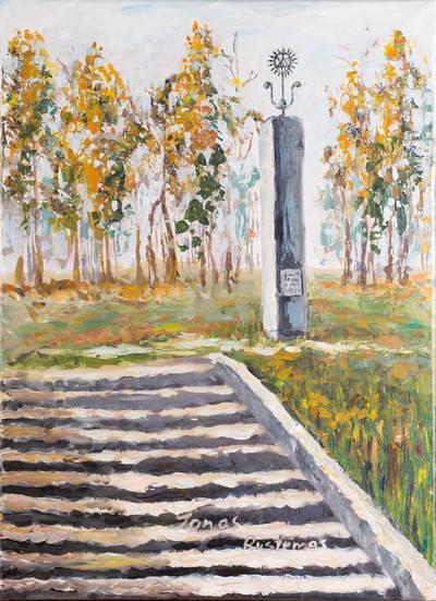 Obeliskas Jonui Rustemui. - 2013