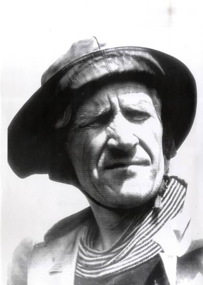 Žvejas Vilius Gelžius. Portretinė nuotrauka / Bernardas Aleknavičius. - 1972
