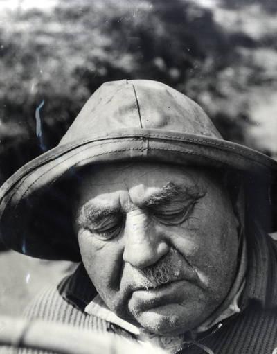 Senas Rusnės žvejas Erčius Jurgenaitis. Portretinė nuotrauka / Bernardas Aleknavičius