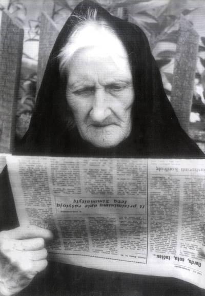 Laukininkė Anikė Vygantaitė-Genienė. Portretinė nuotrauka / Bernardas Aleknavičius. - 1981