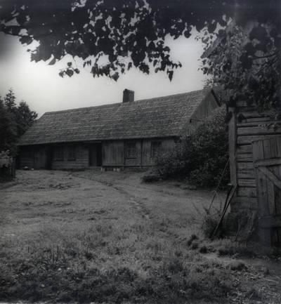 Meškaičių sodyba, kur gimė tautodailininkė Lidija Meškaitytė. Pavienė nuotrauka / Bernardas Aleknavičius
