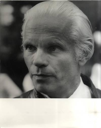 Architektas, Vydūno draugijos garbės narys Hansas Masalskis. Portretinė nuotrauka / Bernardas Aleknavičius. - 1980