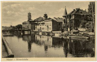 Memel - Börsenbrücke / Photographie A. Hennig. - 19?