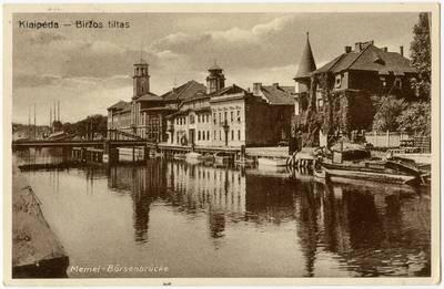 Klaipėda - Biržos tiltas / Photographie A. Hennig. - 19?