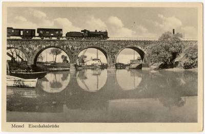 Memel Eisenbahnbrücke / Photographie A. Hennig. - 19?
