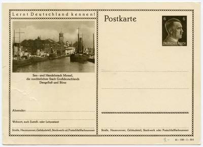See- und Handelsstadt Memel, die nordöstlichste Stadt Großdeutschlands. - 19?