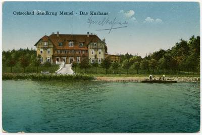 Ostseebad Sandkrug Memel - Das Kurhaus. - 19?