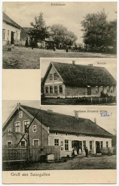 Gruß aus Sausgallen / Photogr. v. H. Buttchereit. - 19?