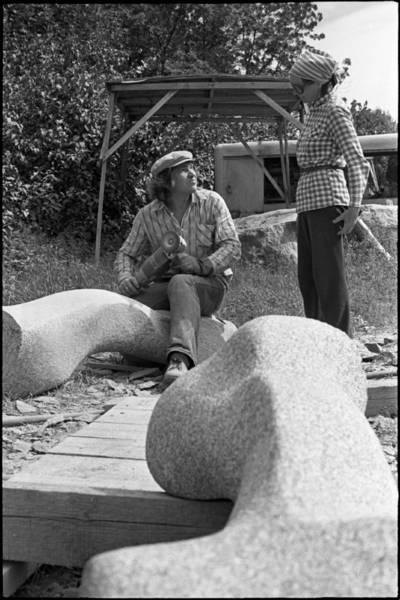 [Skulptoriai Vaclovas Krutinis ir Violeta Skirgailaitė. Skulptorių simpoziumas Smiltynėje] / Audronius Ulozevičius. - 197?