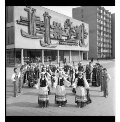 """[Klaipėdos tautinių šokių ir dainų ansamblis """"Žilvinas""""] / Bernardas Aleknavičius. - 1978"""