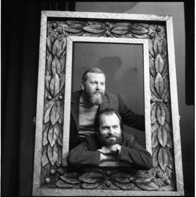 [Teatro režisierius, aktorius Povilas Gaidys ir tapytojas, grafikas Valentinas Antanavičius. Klaipėdos dramos teatras] / Bernardas Aleknavičius. - 1973