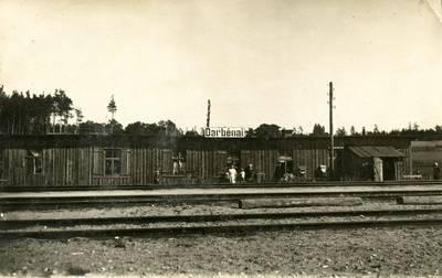 Nežinomas fotografas. Darbėnų geležinkelio stotis. 1927