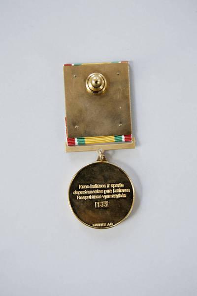 Donatas Stankevičius. Medalis, skirtas Limai Koženkovai. 2016