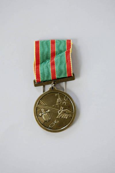 Donatas Stankevičius. Lietuvos kariuomenės kūrėjų savanorių medalis, įteiktas Eugenijui Alaburdai. 2016