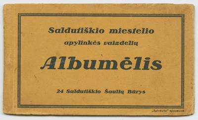 Saldutiškio miestelio apylinkės vaizdelių albumėlis. - 1933