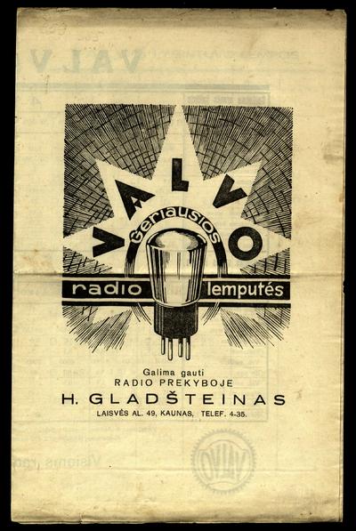 VALVO geriausios radio lemputės