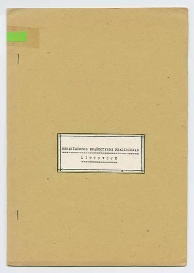Prano Juozapavičiaus kraštotyros rankraščių rinkinys. Biografijos. Organizuotos kraštotyros pradininkas Lietuvoje / Pranas Juozapavičius. - 1984