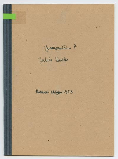 Prano Juozapavičiaus kraštotyros rankraščių rinkinys. Biografijos. Julius Zonelis / Pranas Juozapavičius