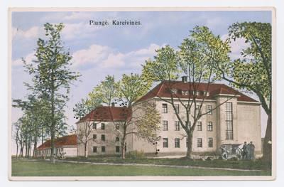 Senieji Lietuvos atvirukai ir fotografijos. Kitos Lietuvos vietovės. Plungė. Kareivinės
