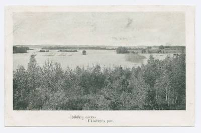 Senieji Lietuvos atvirukai ir fotografijos. Kitos Lietuvos vietovės. Rubikių ežeras Ukmėrgės pav.