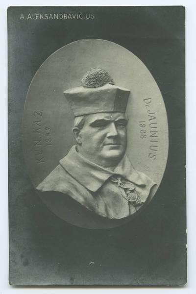 Senieji Lietuvos atvirukai ir fotografijos. Lietuvos kultūros ir visuomenės veikėjai. Kun. Kaz. Dr. Jaunius, 1849 [i.e. 1848]-1908 / A. Aleksandravicius. - 1919