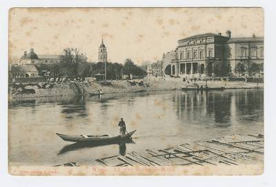 Senieji Lietuvos atvirukai ir fotografijos. Vilnius ir jo apylinkės. Wilna. La rive droite de Vilia. - 1905