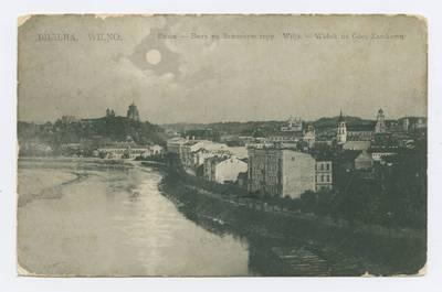 Senieji Lietuvos atvirukai ir fotografijos. Vilnius ir jo apylinkės. Вильна. Вилiя. - Видъ на Замковую гору. - 1908