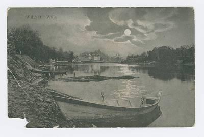 Senieji Lietuvos atvirukai ir fotografijos. Vilnius ir jo apylinkės. Wilno. Wilja. - 1909