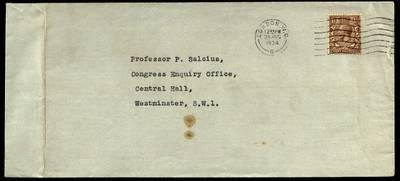 Petro Šalčiaus rankraščių fondas. Korespondencija. [The Horace Plunkett Foundation laiškas Petrui Šalčiui]. - 1934.08.28