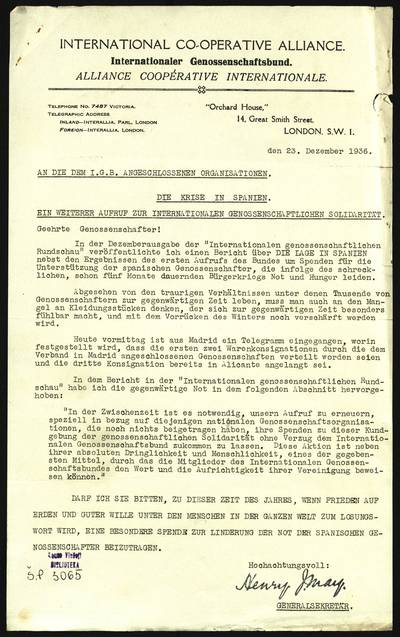 Petro Šalčiaus rankraščių fondas. Korespondencija. [Petro Šalčiaus susirašinėjimas su Henry May] / Petras Šalčius, Henry May. - 1937