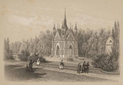 Eugène Cicéri. Ožeškų ir Chšanovskių giminės koplyčia Zakozelėje. 1875
