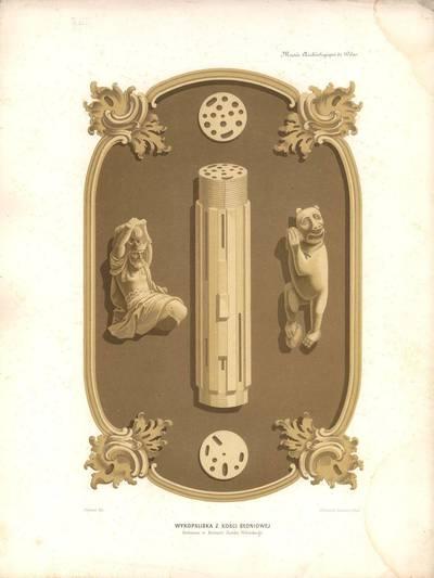 Žeenas. Dramblio kaulo dirbiniai, rasti Vilniaus pilies griuvėsiuose. 1875