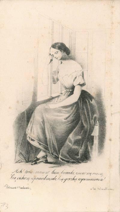 """Antanas Jankevičius. Poemos """"Rohneda"""" iliustracija žurnale """"Rubon"""". 1845"""