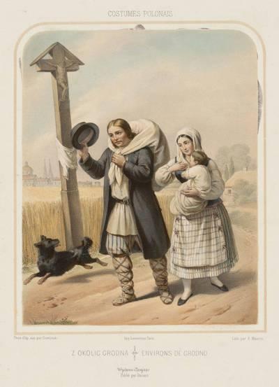 Antuanas Morenas. Gardino apylinkių sodiečiai. 1875