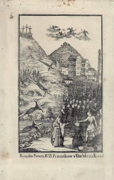 Juozapas Ozemblovskis. Keturiolikos pranciškonų nukankinimas Vilniuje 1333 metais. 1875